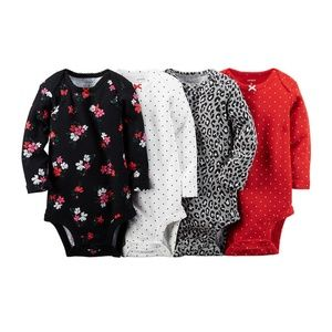 New Carter's Baby Girls 4-Pack Body Suits